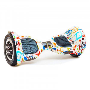 "Гироскутер Smart Balance SUV Graffiti White 10"" Bluetooth"