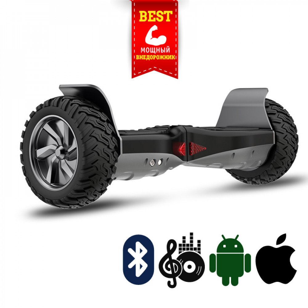 "Гироскутер Черный Smart Balance Offroad Mobile APP 9"" Black Bluetooth"