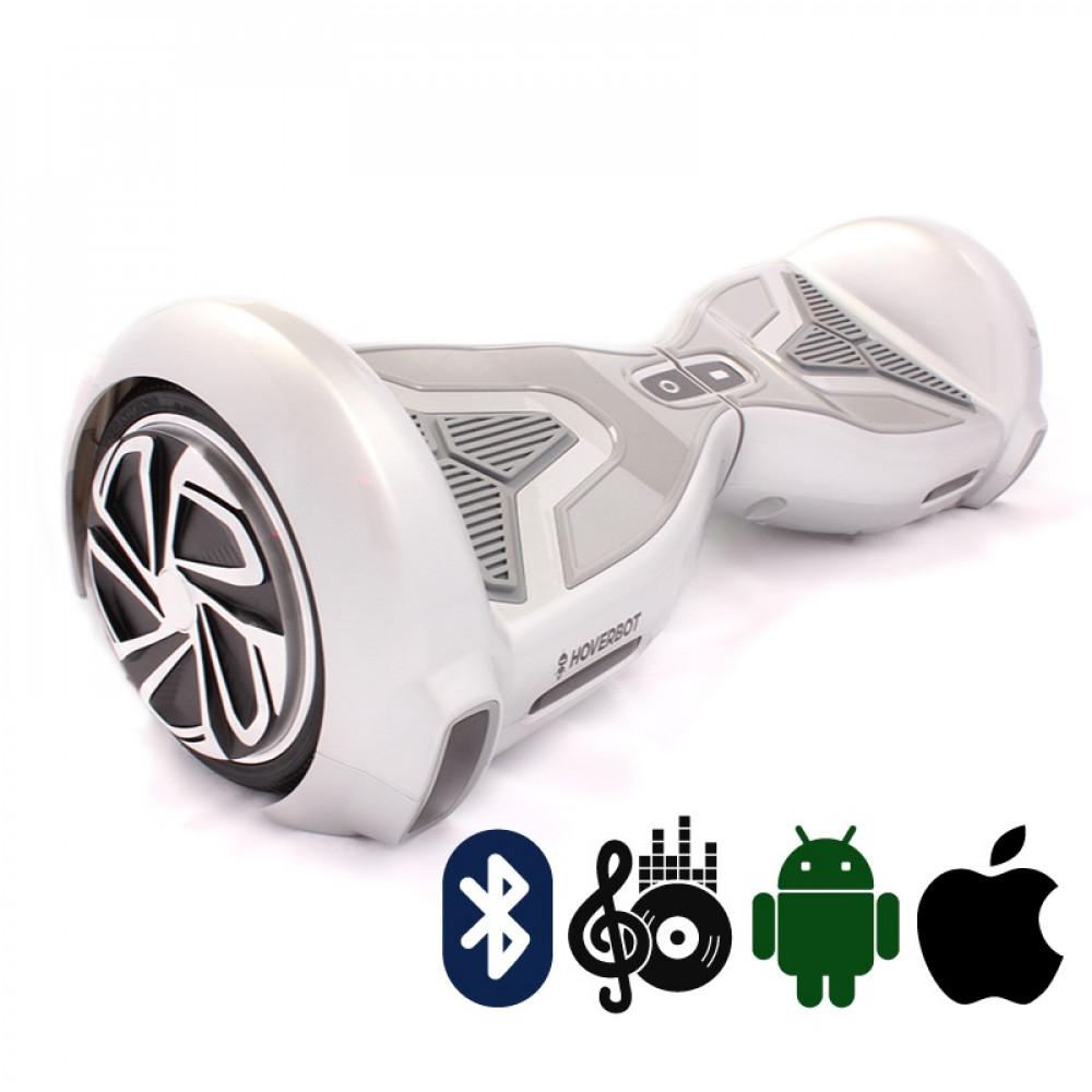 Гироскутер Серебряный Hoverbot A-15 PREMIUM Silver Bluetooth мобильное приложение