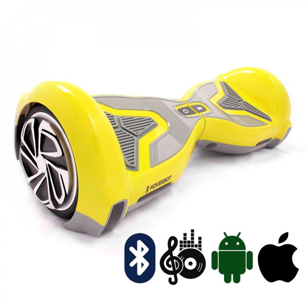 Гироскутер Желтый Hoverbot A-15 PREMIUM Yellow Bluetooth мобильное приложение