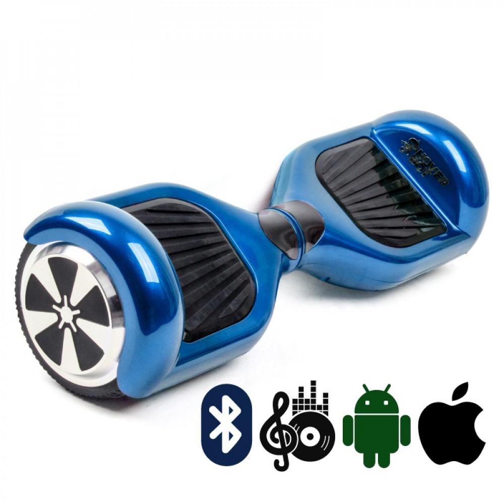Гироскутер Синий Блестящий Hoverbot  A-3 PREMIUM Blue Metallic Bluetooth мобильное приложение