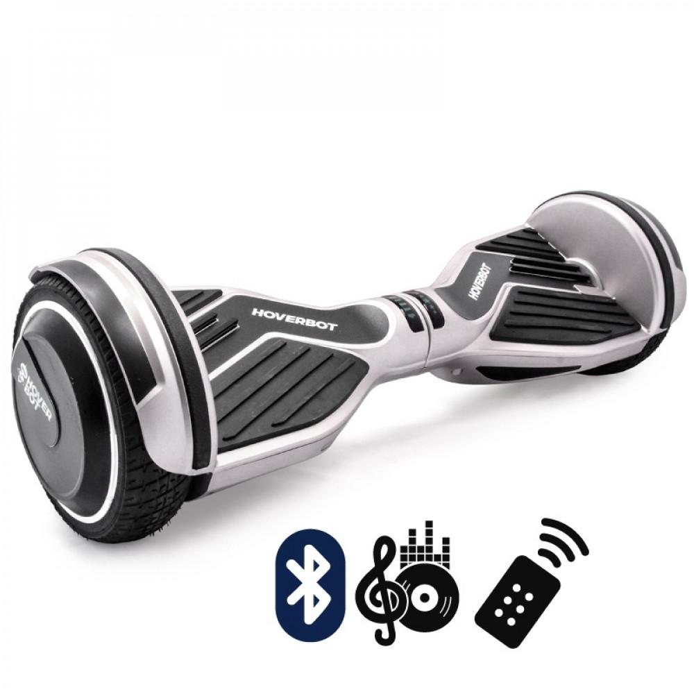 Гироскутер Серебристый Hoverbot A-6 PREMIUM Silver Bluetooth пульт управления