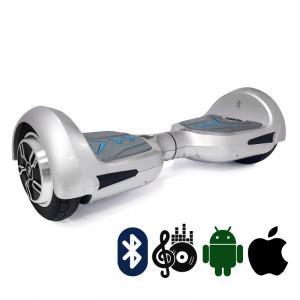 Гироскутер Серебристый Hoverbot B-4 PREMIUM Silver мобильное приложение Bluetooth