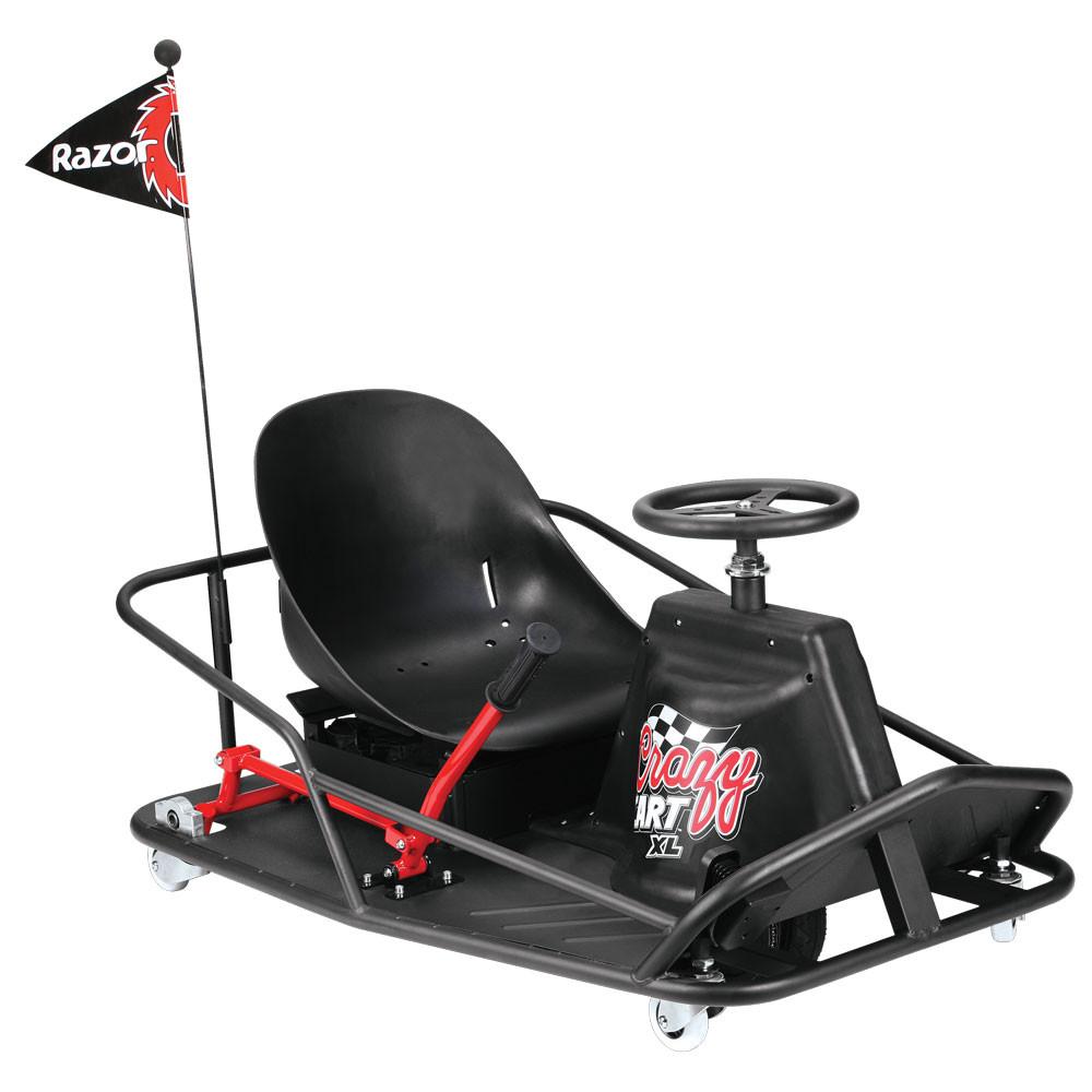 Электро дрифт-карт Razor Crazy Cart XL Черный