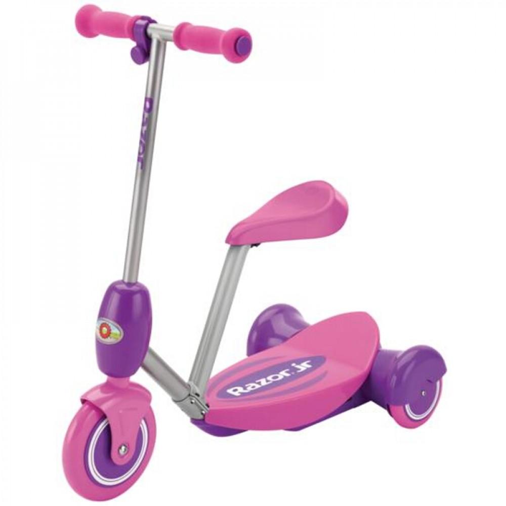 Трёхколёсный Электросамокат Razor Lil' E Розовый для малышей с сиденьем