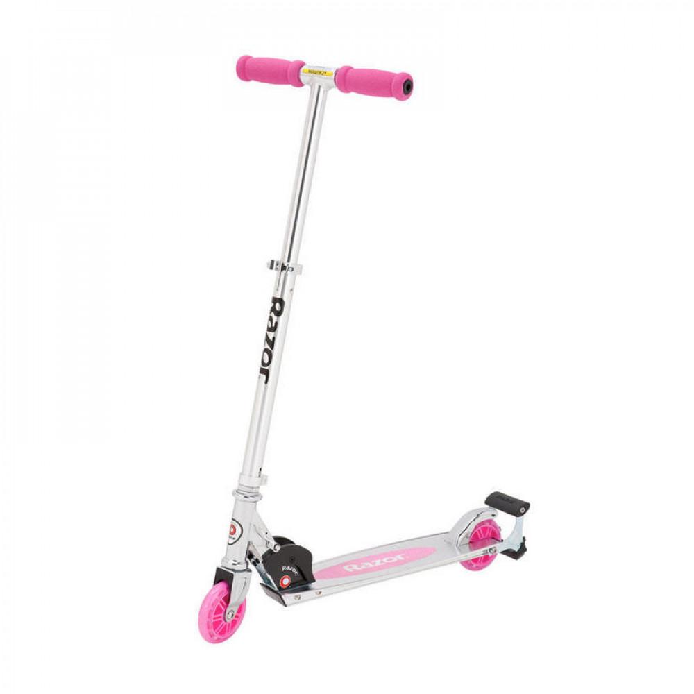 Детский Самокат с искрами Razor Spark Pink (Розовый)