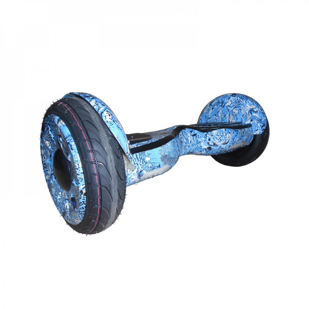 "Гироскутер Синий Леопард Smart Balance Wheel New Premium 10.5"" Blue Leopard Bluetooth"