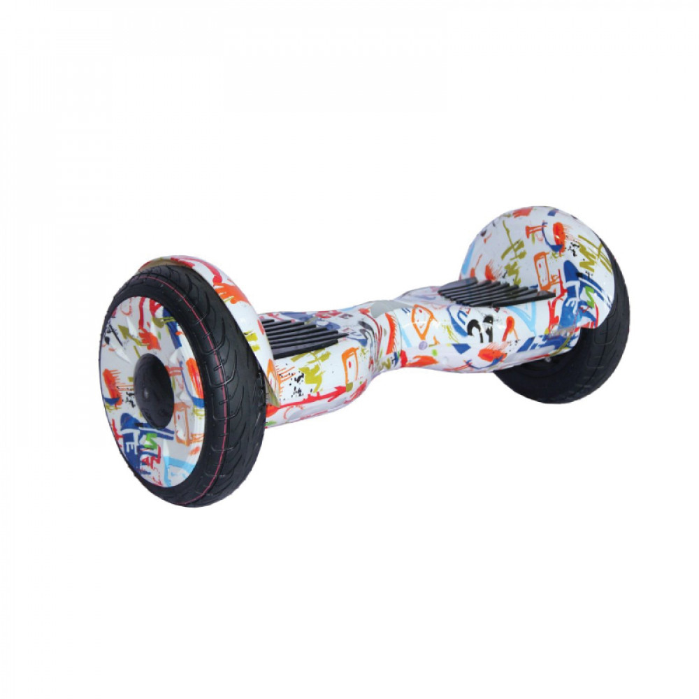 "Гироскутер  Граффити Белый Smart Balance Wheel New Premium 10.5"" Graffiti White Bluetooth"