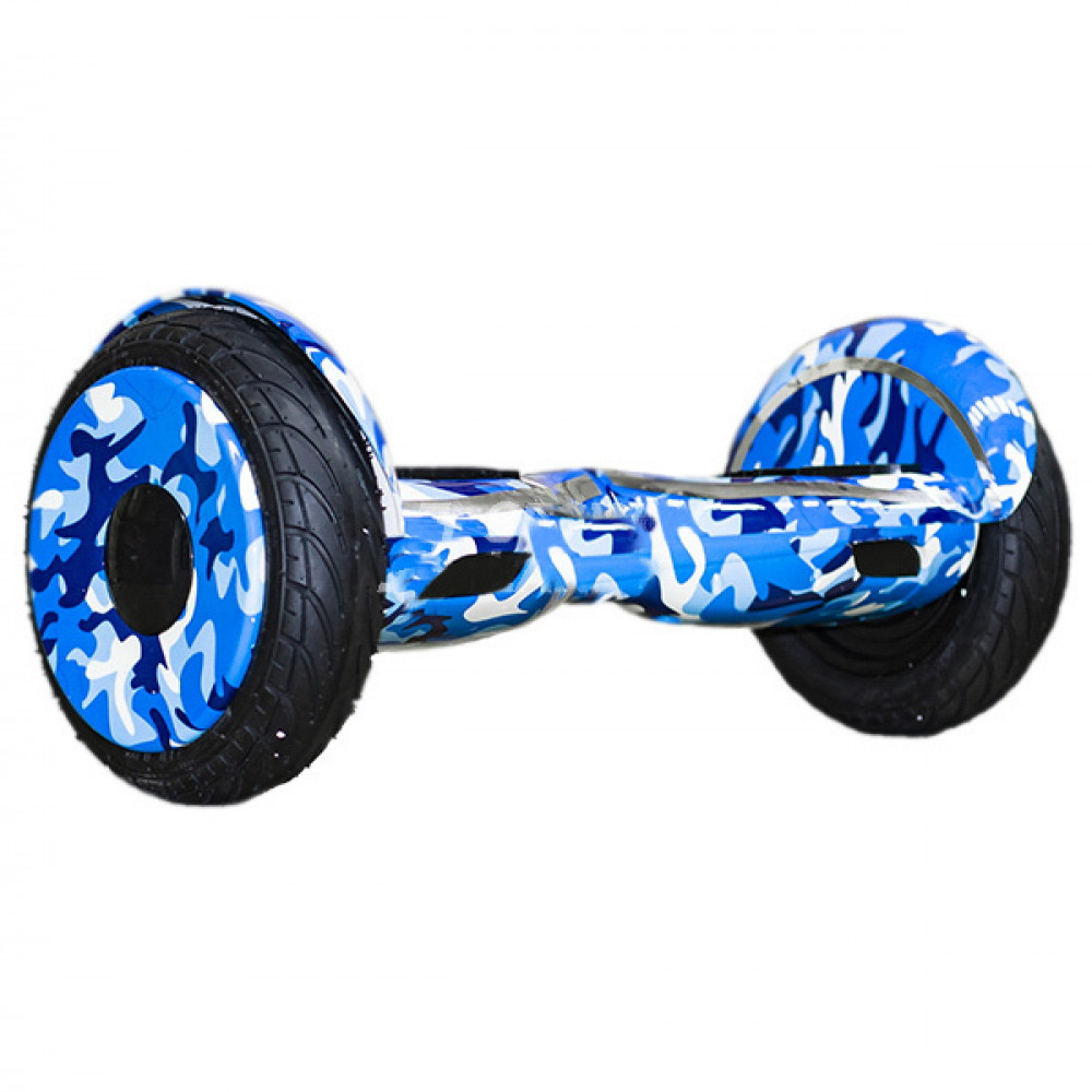 "Гироскутер Синий Камуфляж Smart Balance Wheel New Premium 10.5"" Blue Camouflage Bluetooth"