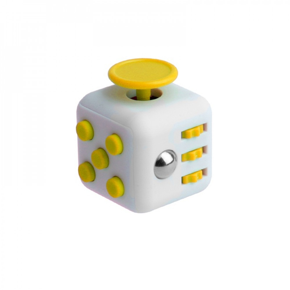 Кубик Fidget Cube White-Yellow